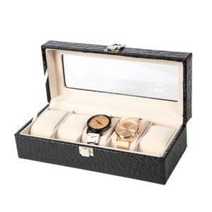 Luxe Lederen Horloge Koffer 5 Vakken