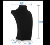 Display Hals Fluweel zwart 22 cm hoog_