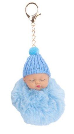 Baby Sleutelhanger/Tas hanger Licht Blauw