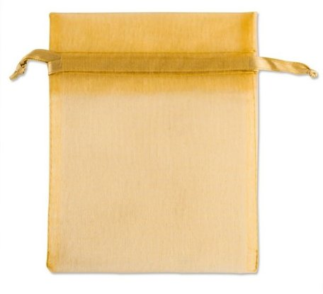 Organza bags Gold Color 9x12 cm Pack of 50 pieces