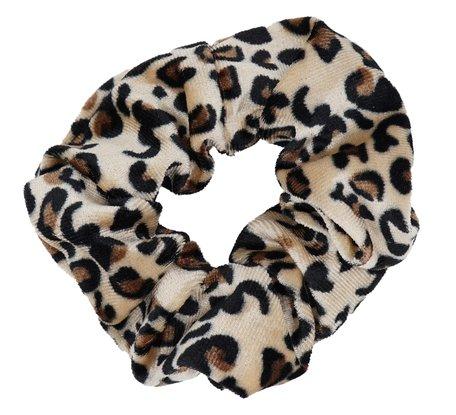Scrunchie luipaard Print - Bruin & Beige
