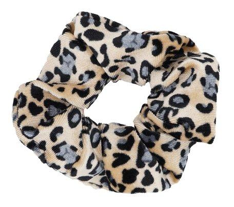 Scrunchie luipaard Print - Grijs & Beige