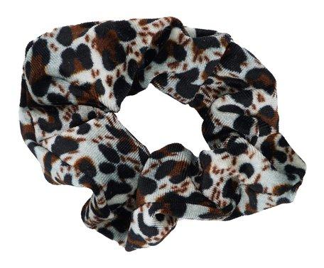 Scrunchie luipaard Print - Grijs