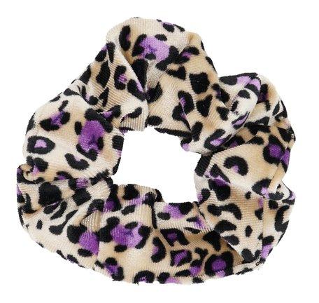Scrunchie luipaard Print - Paars & Beige
