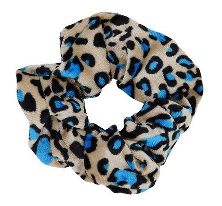 Scrunchie luipaard Print - Blauw & Beige