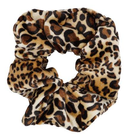 Scrunchie luipaard Print - Bruin