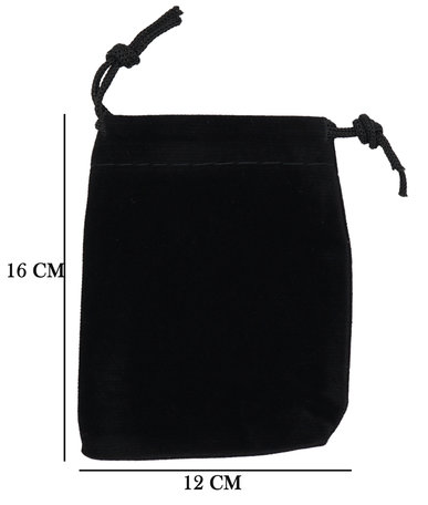 Velvet Organza bags 12x16 cm Pack of 50 Pieces - Black