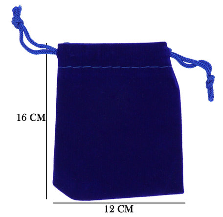 Velvet Organza zakjes 12x16 cm Pak van 50 Stuks - Blauw