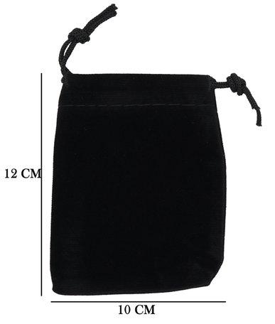 Velvet Organza zakjes 10x12 cm Pak van 50 Stuks - Zwart
