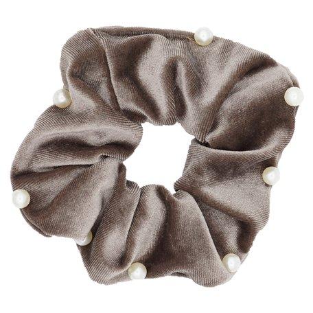 Velvet Scrunchie Grey