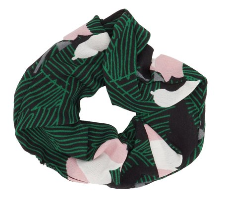 Scrunchie Abstract Groen