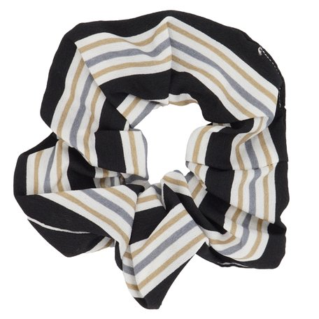 Scrunchie Abstract Zwart & Wit