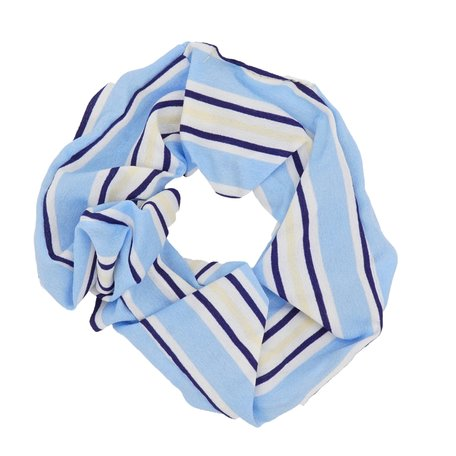 Scrunchie Abstract Blauw & Wit