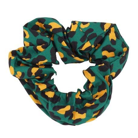 Scrunchie Abstract Groen