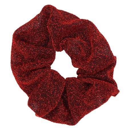 Glitter Scrunchie Rood