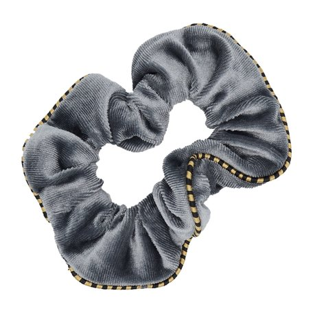 Velvet Scrunchie Grijs
