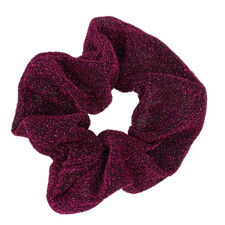 Glitter Scrunchie Bordeaux