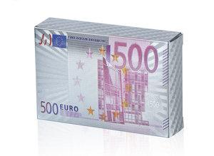Speelkaarten - Luxe Glans Zilver Kleurige Poker Kaarten - €500 biljetten Gekleurd