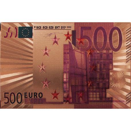 Speelkaarten - Luxe Glans Rosé Goud Kleurige Poker Kaarten - €500 biljetten Gekleurd