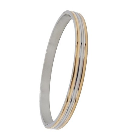 ARMBAND STAINLESS STEEL Kleur Silver & Goud