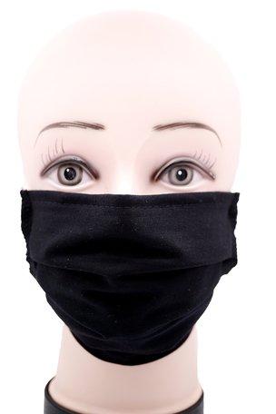 Wasbare mondkapje met neusclip /katoen / Machine Washable Cotton Mask Zwart kleur 0% BTW