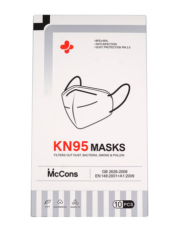 Mond Maskers KN95 10 stuks  0% BTW