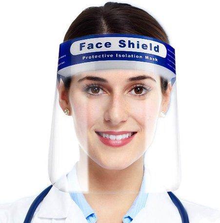1 x Gezichtscherm | Spatmasker | Gezichtmasker | Beschermkap voor gezicht | Face Shield