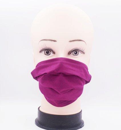 Wasbare mondkapje met neusclip /katoen / Machine Washable Cotton Mask - Roze