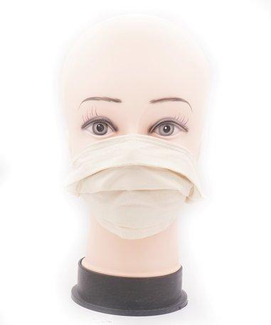 Wasbare mondkapje met neusclip /katoen / Machine Washable Cotton Mask kleur Beige