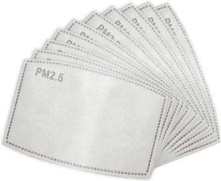 10 X Vervangbare mondkapje filters  | PM 2.5 filters
