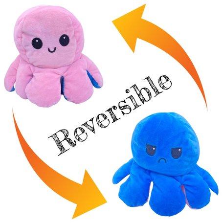 Moody Octopus knuffel omkeerbaar