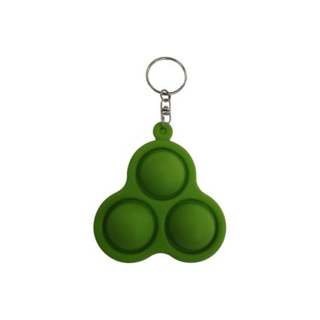 Groen Triangle Sleutelhanger