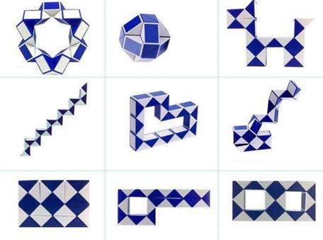 Magic Snake Cube Blauw