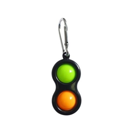 Black Sleutelhanger Groen en Oranje