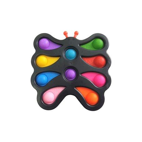 XXL Fidget Pad Vlinder Zwart