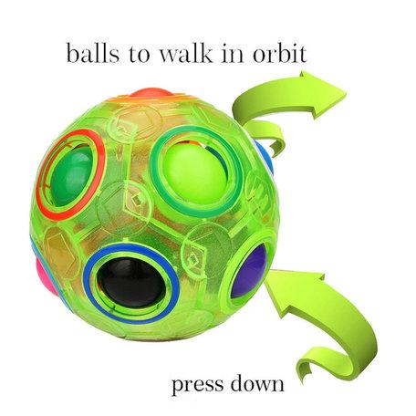 Fidget Ball puzzle Groen Glow in The Dark