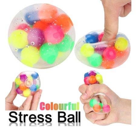 12 x Fidget Stress Ball rainbow
