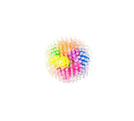 12 x Fidget Stress Ball rainbow Spikkel