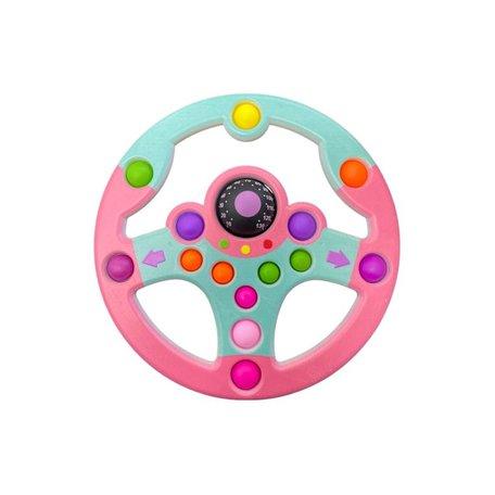 Fidget stuur Blauw & Roze