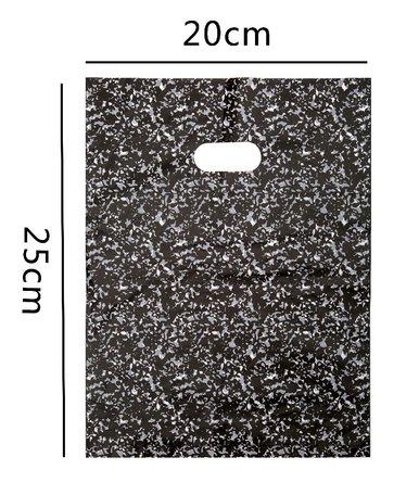 100 Stuks Plastic draagtas met gestanste handgrepen H25cm x B20cm