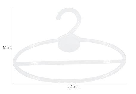 20 Stuks Kleren Hangers Ovaal 15cm Lang - Transparant