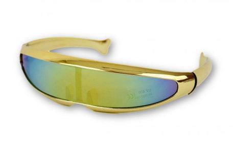 Snelle Planga Gestroomlijnd Bril - vlot Montuurtje - Goud Metallic