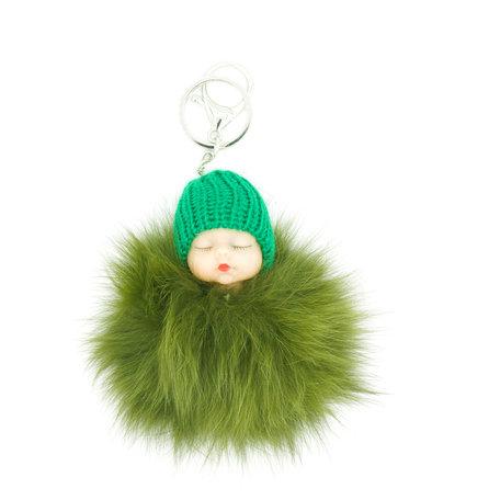 Baby Sleutel/Tas hanger Groen 17 cm