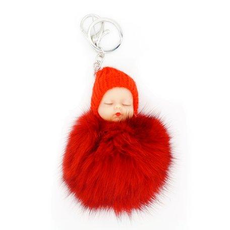 Baby Sleutel/Tas hanger Rood 17 cm