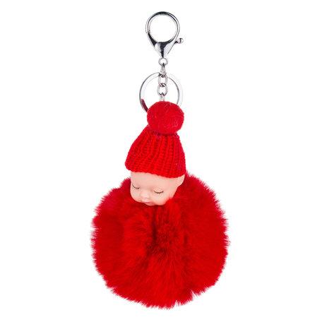 Baby Sleutelhanger/Tas hanger Rood