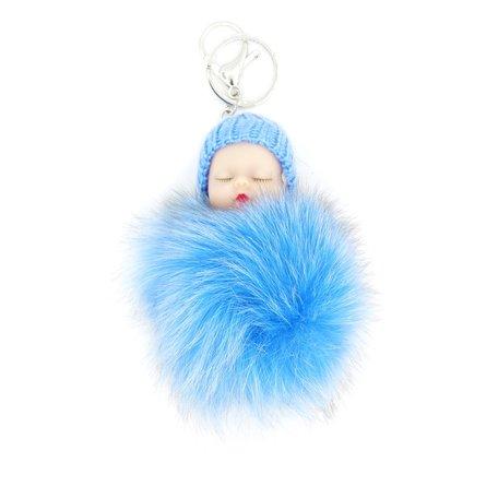 Baby Sleutel/Tas hanger Blauw 17 cm