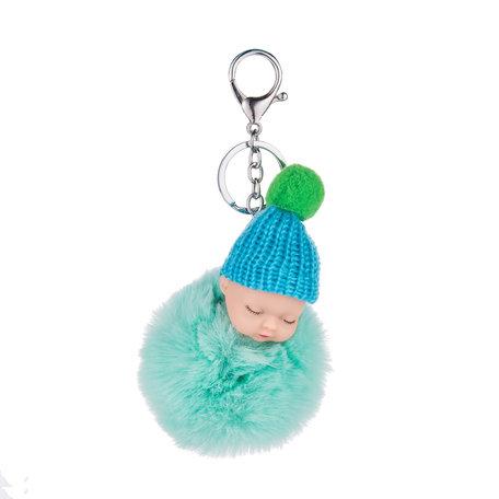 Baby Sleutelhanger/Tas hanger licht groen