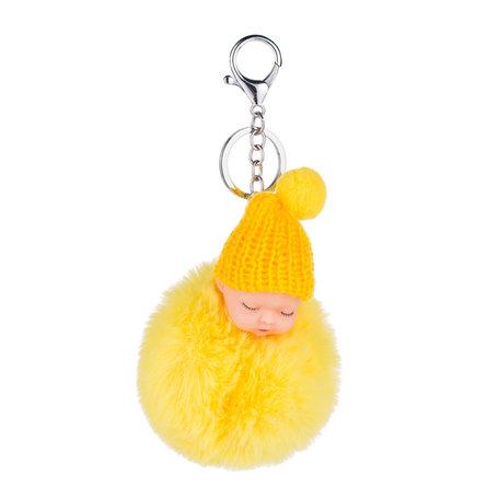 Baby Sleutelhanger/Tas hanger licht geel