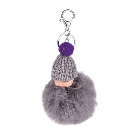 Baby Sleutelhanger/Tas hanger grijs