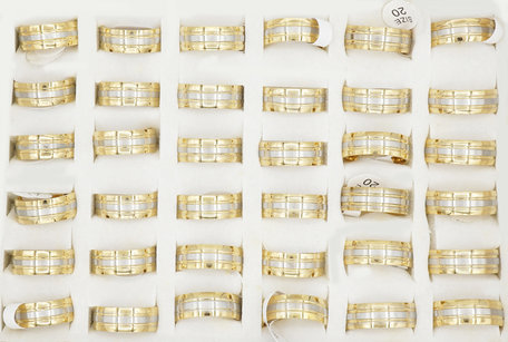 36 RVS Ringen - Goud Verguld